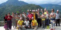 Constructing shelters for Gyalthum Community.